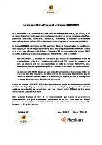 REOLIAN MULTITEC rejoint le Groupe ROUGNON